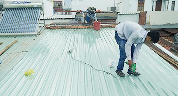 dịch vụ sửa chữa mái tôn uy tín, chất lượng