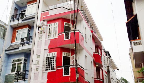 dịch vụ sơn nhà ngoài trời