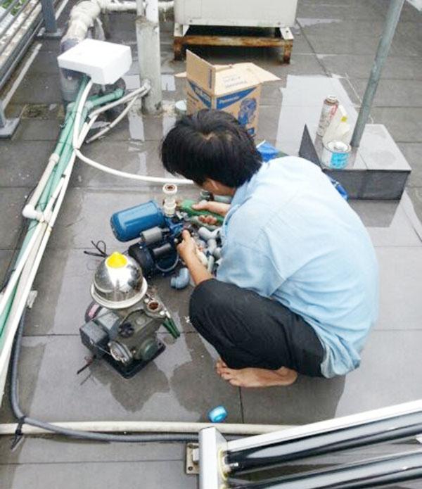 dịch vụ sửa máy bơm nước