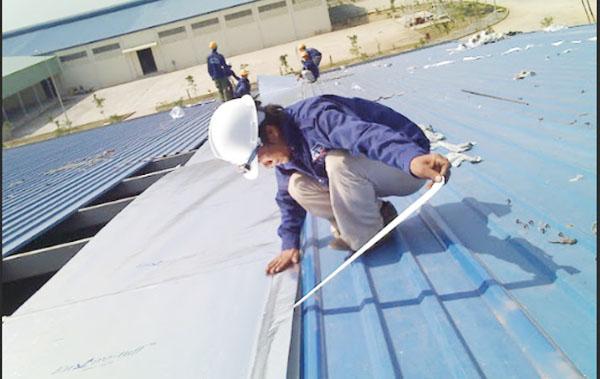 sửa chữa mái tôn nhà xưởng