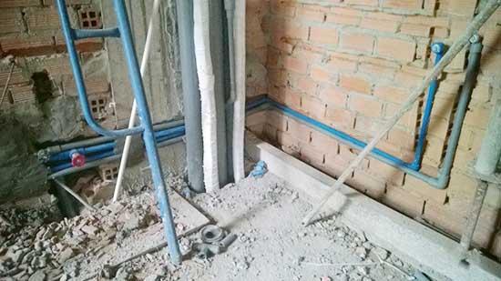 thi công sửa ống nước trong nhà